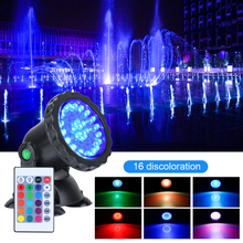 IP68 RGB 36 LED Underwater Spot Light 1 set 1 to 4 light For Swimming Pool Fountains Pond Water Garden Aquarium EU plug 12v led underwater light waterproof rgb underwater lamp swiming pool garden fountains pond water fish tank aquarium spot lights