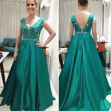 Graceful A Line Turquoise Mother of the Bride Dresses Sleeveless V Neckline Wedding Party Dresses Back Out Beading 2021 On Sale
