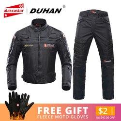 DUHAN мотоциклетная куртка для мужчин для верховой езды, для мотокросса, для езды на мотоцикле, куртка для мотогонок, ветрозащитная, защита от ...