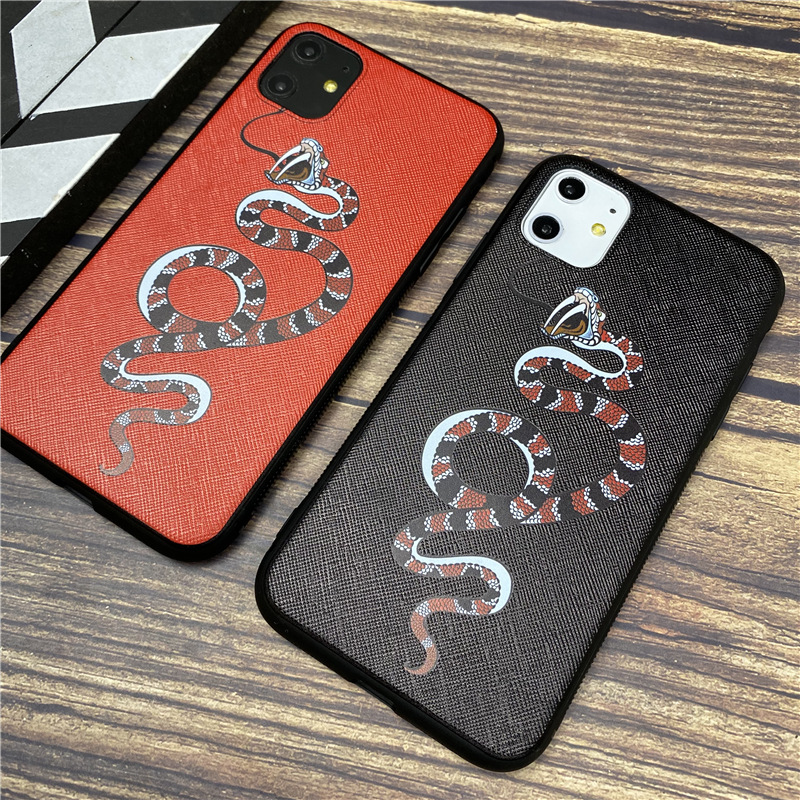 Luxury brand snake soft <font><b>case</b></font> for <font><b>iphone</b></font> 11 pro <font><b>x</b></font> xs max xr 8 7 6 6s plus <font><b>silicone</b></font> phone cover <font><b>3D</b></font> Super relief coque fundas capa image