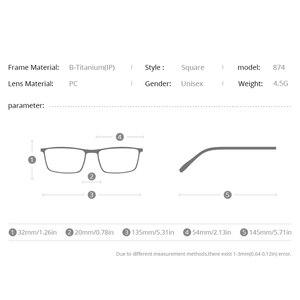 Image 3 - FONEX B monture de lunettes en titane pour hommes, verres Semi sans bords, ultralégers, pour myopie, monture optique, verres sans vis, 874