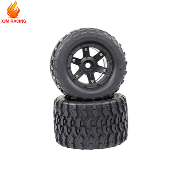 All Terrain Wheel Tire Set(170mmX105mm) for 1/8 HPI Racing Savage XL FLUX Rovan TORLAND MONSTER BRUSHLESS Truck Rc Car Toy Parts