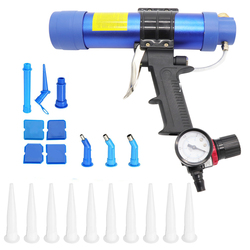 310ml cartucho sellador de aire neumático pistola de silicona salchichas herramienta de calafateo boquilla de goma de vidrio herramientas de construcción