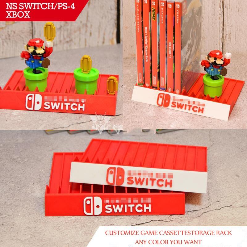 3d Customize Host Console Game Cassette Storage Rack CD Holder For NS Switch Ps-4- Legend Of Zelda Mario Odyssey Monster Hunter