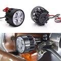 4LED мотоциклетный светильник 12 в 10 Вт  головной светильник для электрического велосипеда  водонепроницаемый светильник + переключатель для ...