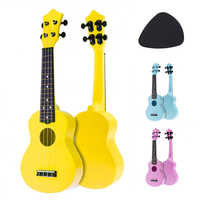 Ukelele acústico de 21 pulgadas Uke 4 cuerdas Hawaii guitarra instrumento para niños y principiantes de música