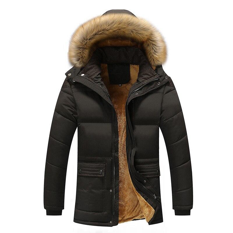 Men's Hooded Windproof Parkas Plus Size 7XL Velvet Warm Coat Mens New Fashion Winter Jacket Men Thick Casual Outwear Jackets