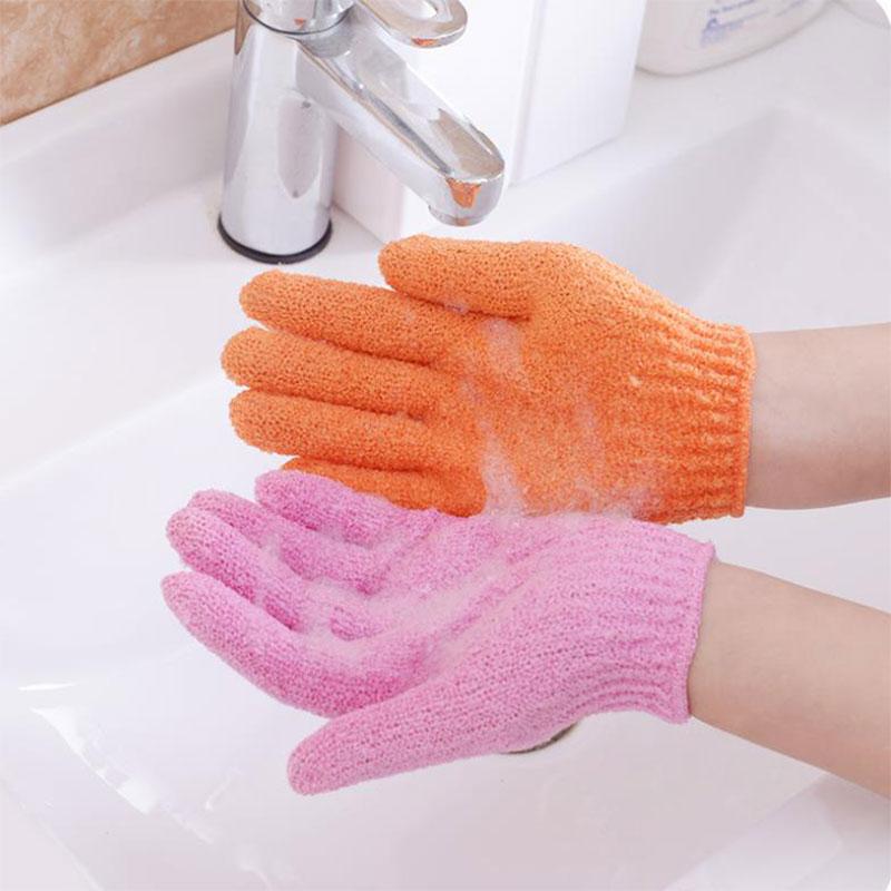 1 шт. Пилинг отшелушивание перчатка перчатка для душа скраб перчатки сопротивление тело массаж губка мытье кожа увлажнение спа пена