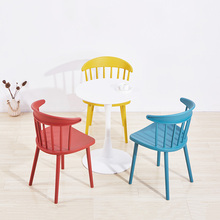 Modern Home Backrest Plastic Windsor Chair Dining Chairs for Dining Rooms Furniture Living Room Study Computer Desk Dining Chair