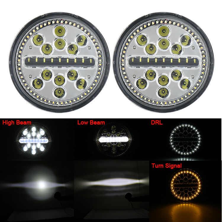 メーカー販売 7 インチジープ · ラングラーオフロード口径ライト led 車のライトとヘッドランプを変更メートル単語