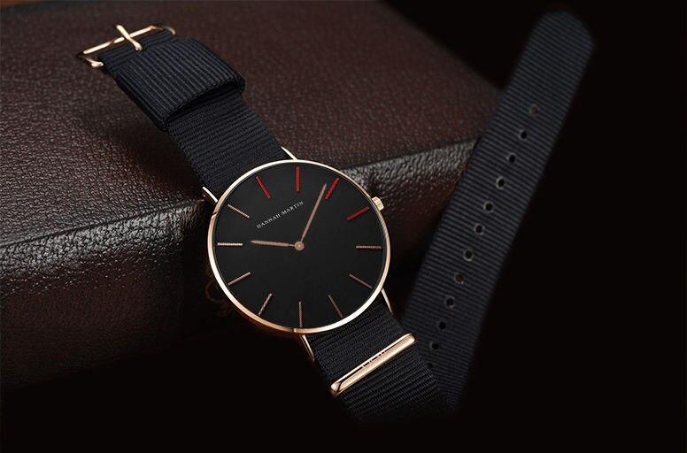 2019 branco senhoras marca moda casual de quartzo couro náilon relógios