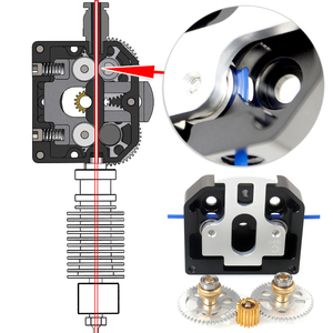 Image 1 - All Metal New Dual Drive Extruder For 3D Printer  Upgrade Titan Aero BMG E3D MK8 Enter NF OMG MY3D