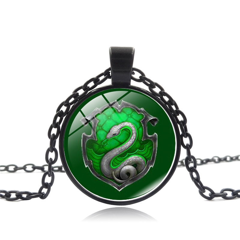 Us Movie Inspired Necklace Death Hallows Chain Salazar Slytherin Vintage Steampunk Snake Pendant Necklace Women Jewelry Gifts