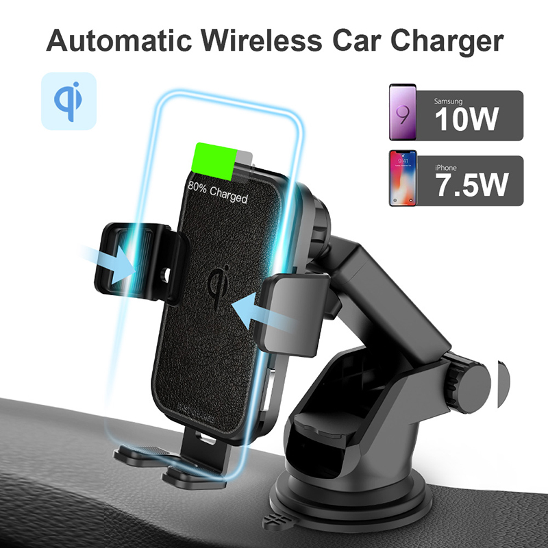 Image 2 - 2 In 1 Fast Wireless Car Charger For Iphone XS Samsung S10 QI 10W Wireless Charger Car Air Vent Dashbord Mobile Phone Holder-in Wireless Chargers from Cellphones & Telecommunications