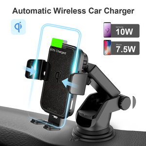 Image 2 - 2 In 1 Fast Wireless Car Charger For Iphone XS Samsung S10 QI 10W Wireless Charger Car Air Vent Dashbord Mobile Phone Holder