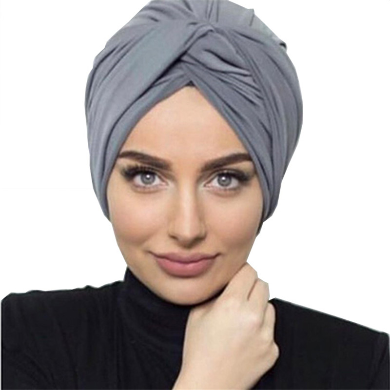 2020 New arrival soft suede turban hijab caps for women african head wraps bonnet muslim headscarf turbans islamic underscarf
