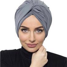 2020 Новое поступление мягкой замши тюрбан шапочки под хиджаб