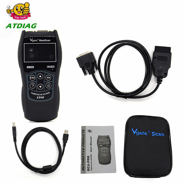 Newly Vgate VS890 OBD2 Scanner VS-890 OBDII Code Reader Support OBD OBDII CAN Protocols 13 Languages Better ELM327 AD310