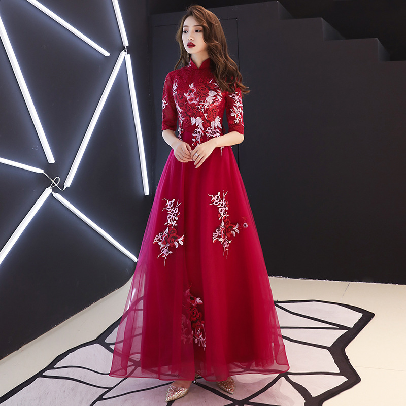 Sexy Mini A-line Women Qipao Classic Appliques Dress Vintage Mandarin Collar Chinese Prom Gown Oversize 3XL Robe De Soiree