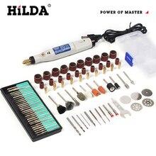HILDA 18Vแกะสลักปากกามินิสว่านโรตารี่เครื่องมือบดอุปกรณ์เสริมชุดMultifunction MiniแกะสลักปากกาสำหรับDremelเครื่องมือ