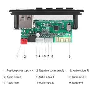 Image 4 - KEBIDU placa decodificadora WMA WAV con pantalla a Color, módulo de Audio de 5V y 12V, USB, TF, Radio FM, accesorios para coche