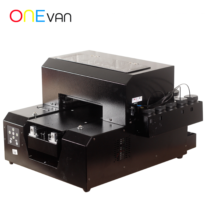UV Printer A4 Photo Printers Flatbed 3D Embossed Print Machine For Phone Case DIY Customized Metal Wood Glass Newest 2019