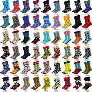 Image 3 - 100 Pairs/lot Wholesale Men Colorful Striped Cartoon Combed Cotton Socks High Quality Crew Wedding Casual Happy Funny Sock Crazy