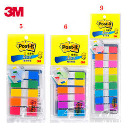 3M post it indicator labels 5 color 6 or 9 colors label postit memo pad note sticker sticky notes yellow pink purple blue tag