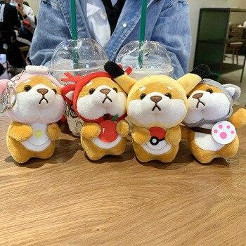 Corgi dog key chain pendant puppy plush doll school bag Shiba Inu cute backpack keychain
