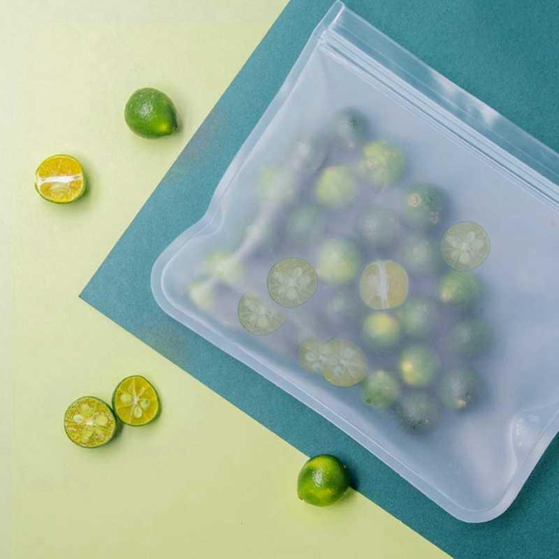 القابلة للتحلل أكياس التخزين القابلة لإعادة الاستخدام-6 حزمة حقيبة مبرد (4 حقيبة شطائر قابلة لإعادة الاستخدام و 2 حقيبة الوجبات الخفيفة القابلة لإعادة الاستخدام)-حقيبة الغداء سميكة اضافية zieo