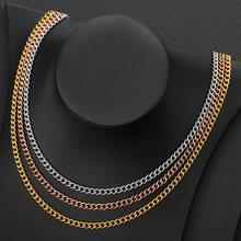 4 мм Ширина Кубинский ожерелье для женщин в стиле бохо ювелирные