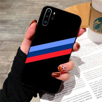 Bmw blue red sports case for huawei p20 p30 p40 pro mate 10 20 30 pro lite p smart y7 2019 plus nova 3I cases cover image