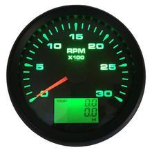 1 шт. стиль 85 мм Тахометр измерительные приборы 0-3000 об/мин морской ЖК-дисплей счетчики Rev 9-32 В водонепроницаемые революционные счетчики с подсветкой для автомобиля