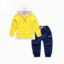 Spring Autumn Children Boy Girl Clothing Sets Baby Leisure Letter Cotton Hoodies Pants 2Pcs/Sets Fashion Kids Clothes Tracksuits kids tracksuits 2018 new autumn boys clothes sets letter printed hoodies