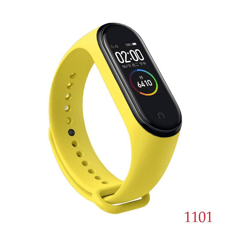 Для Xiaomi Mi Band 4/3 ремешок Металлическая пряжка силиконовый браслет аксессуары miband 3 браслет Miband 4 ремешок для часов М - Цвет: 1101