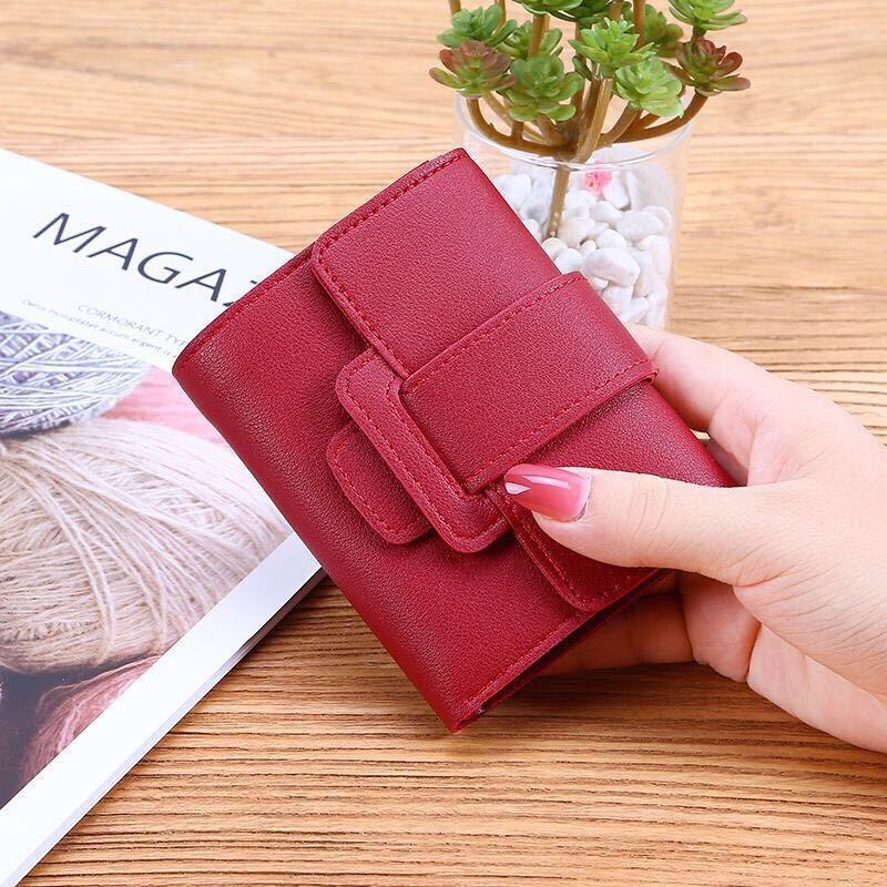 Women Wallets Bag Small Short Fashion Brand PU Leather Purse Card Bags For Ladies Female 2020 Mini Coin Clutch Money Clip Wallet