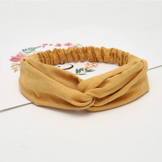 Women Summer Suede Headband Vintage Cross Knot Turban Elastic Hair Bands Soft Solid Girls Hairband Headwear Hair Accessories 6