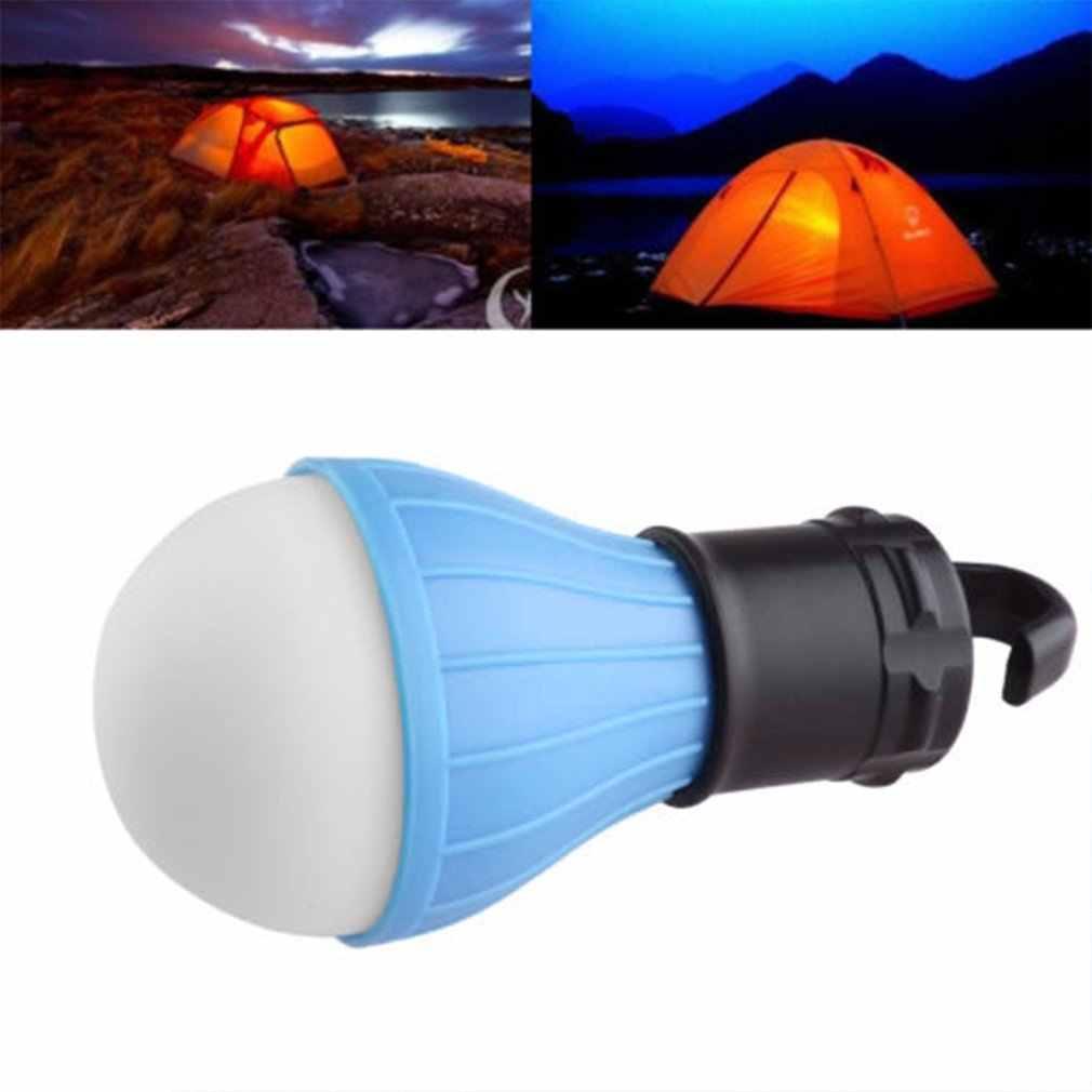 屋外キャンプ作業 led テントライト防水ポータブル緊急キャンプランプランタンドロップ配送レッド/ブルー