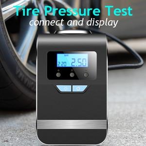 Image 5 - Portable Car Air Compressor Digital Tire Tyre Inflator Pump 12V with Big Light Bright Flashing Digital Pressure Gauge 150Psi