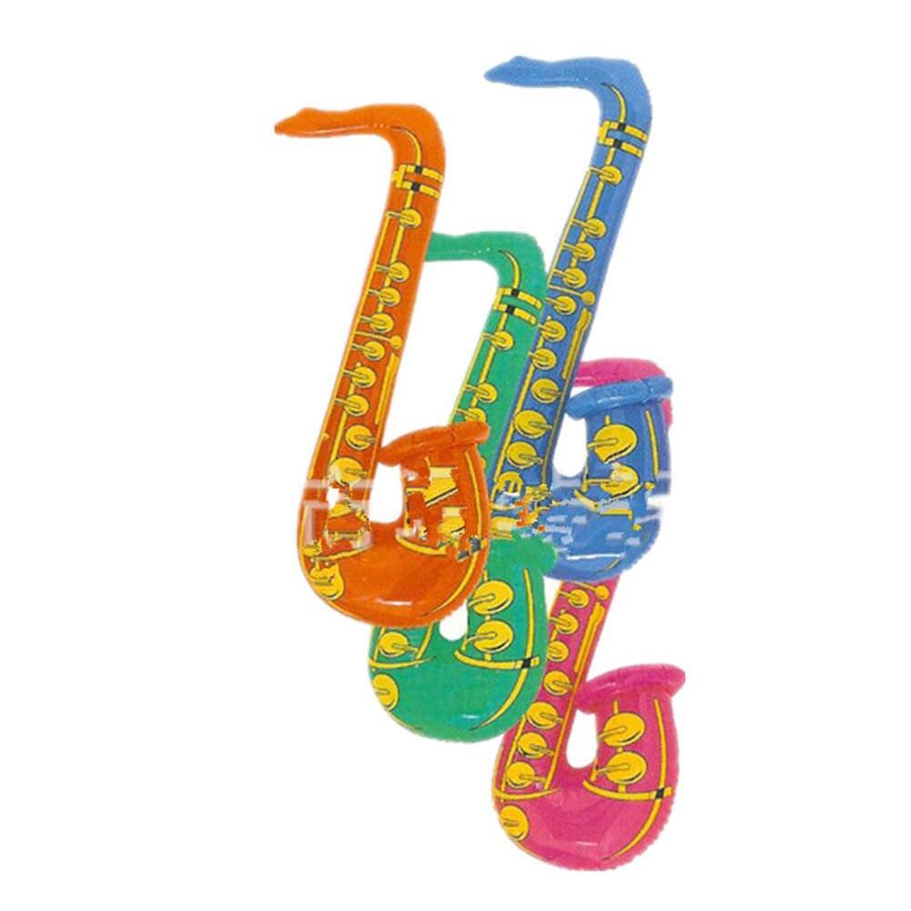 Neue Lustige 70cm Aufblasbare Blow Up Rock & Roll Saxophon Disco Urlaub Party Musik Spielzeug Kind Kinder Landschaft Spielzeug party Dekoration Hot