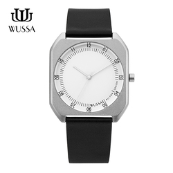 WUSSA square mens quartz watch