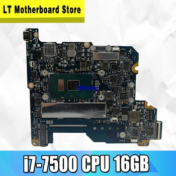 Akemy for ASUS ZenBook 3 UX390 UX390U UX390UA UX390UAK UX390UAK Laptop Motherboard  i7-7500 CPU 16GB RAM 100% Tested  Mianboard