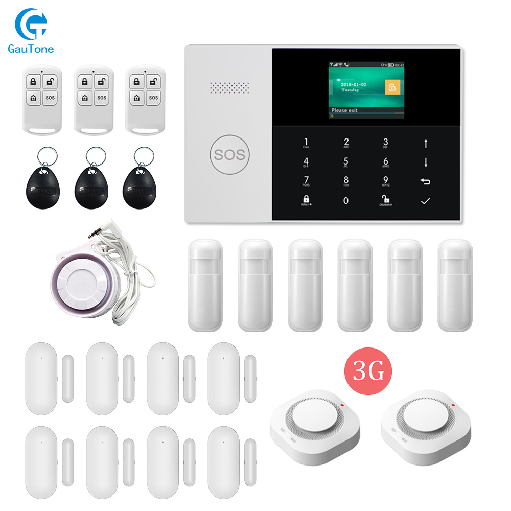 Free Shipping WIFI 3G Wireless Home Intelligent Security Fireproof Burglar Alarm System APP Remote Control For IOS And Android