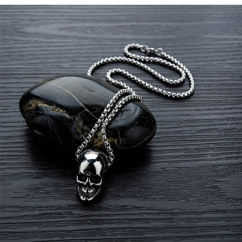 Stainless Steel Titanium Skull Multi-color Man Men Necklaces Chain Pendants Punk Rock Hip Hop for Male Boy Fashion Jewelry Gift