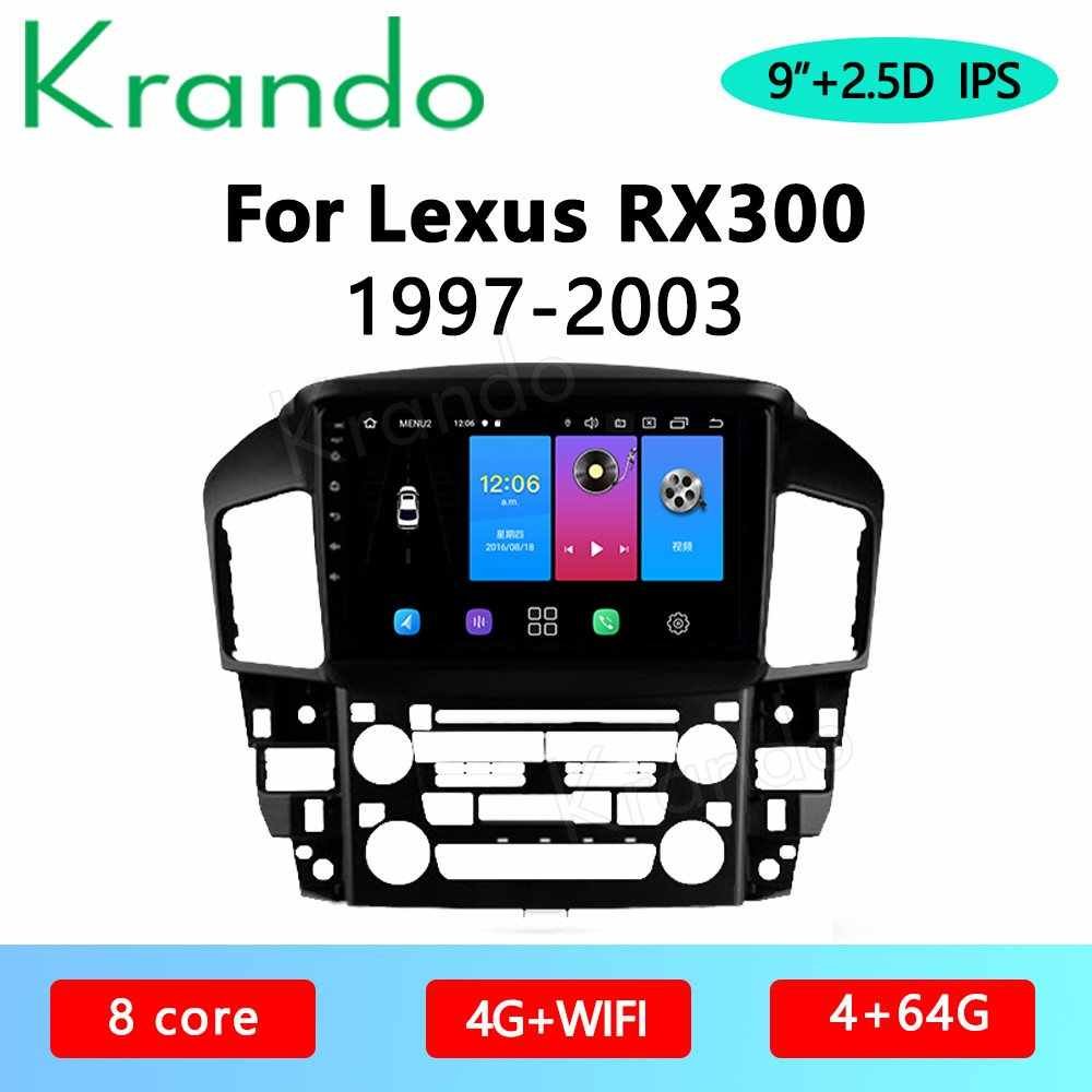 """Krandoアンドロイド10.0 9 """"ipsフルタッチスクリーン車ラジオレクサスRX300 1997-2003マルチメディアプレーヤーオーディオgpsナビcarplay"""