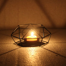 Nordic Retro Iron Tea Light Candle Holder Candlestick Lamp Lantern Home Decor Home Decoration Accessories High Quality #R5(China)