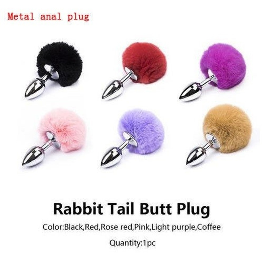 Tail Gem Butt Plug Foxtail Rabbit Rabbit Tail <font><b>Cats</b></font> <font><b>Sex</b></font> <font><b>Toys</b></font> Metal Anal Plug Adult <font><b>Sex</b></font> <font><b>Toys</b></font> Inflatable Butt Plug image