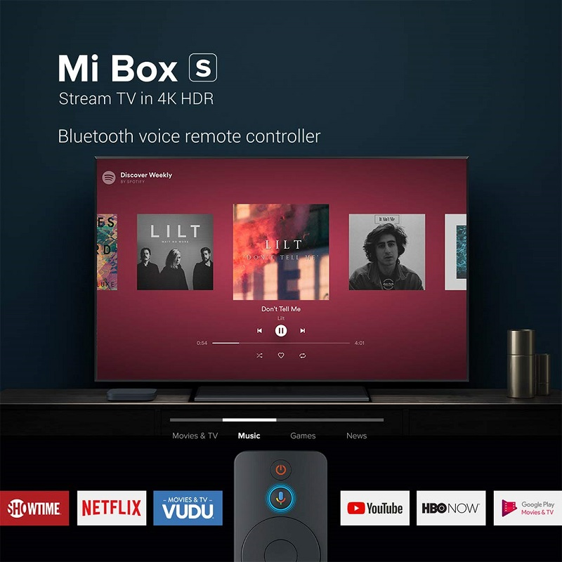 Top SaleXiaomi Media-Player Top-Box Smart-Control-Set Cast Netflix Wifi Android Google 4K Ultra-Hd