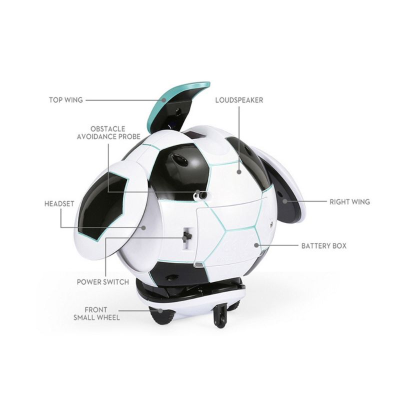 Intelligent Soccer Robot Talk Singing Dancing Repeat Touch Sensing Deformation P31B