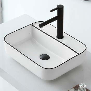 Black wash basin online custom frosted glass